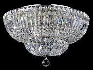 Casa Padrino Barock Kristall Decken Kronleuchter Nickel 46 x H 32 cm Antik Stil - Möbel Lüster Leuchter Hängeleuchte Hängelampe