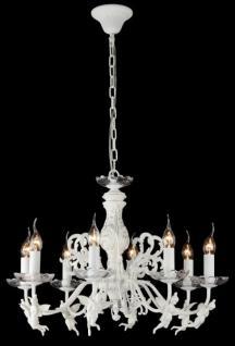 Casa Padrino Barock Decken Kristall Kronleuchter Cream Gold 64 x H 45 cm Antik Stil - Möbel Lüster Leuchter Hängeleuchte Hängelampe