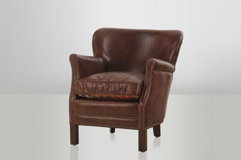 Chesterfield Luxus Echt Leder Ohrensessel Vintage Leder von Casa Padrino Cigar - Club Sessel