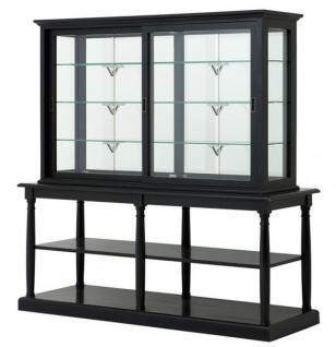 casa padrino luxus glas vitrinen schrank schwarz. Black Bedroom Furniture Sets. Home Design Ideas