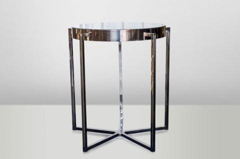 Casa Padrino Art Deco Beistelltisch Schwarz Metall / Marmor 65 x 65 cm- Jugendstil Tisch - Möbel Blumentisch