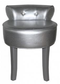 casa padrino designer hocker boston silber silber mit bling bling steinen barock. Black Bedroom Furniture Sets. Home Design Ideas