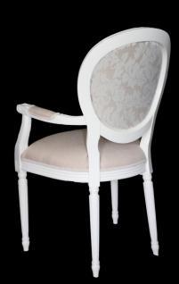 casa padrino barock esszimmer stuhl mit armlehne creme wei designer stuhl luxus qualit t. Black Bedroom Furniture Sets. Home Design Ideas