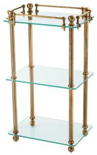 Casa Padrino Luxus Badezimmer Regalschrank Vintage Messing - Designer Möbel