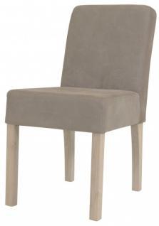 Casa Padrino Designer Esszimmer Stuhl ModEF 35 Khaki Leder - Hotelmöbel - Holz Buche