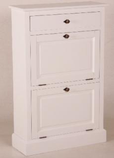 Casa Padrino Shabby Chic Landhaus Stil Schuhschrank Weiß B 75 H 115 cm Möbel Schuh Schrank