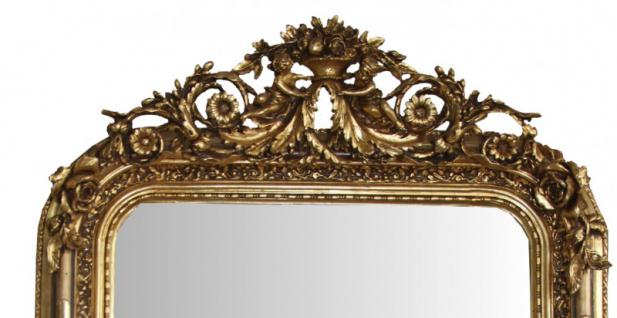 casa padrino barock wandspiegel gold antik look h he 157 cm breite 89 cm edel prunkvoll. Black Bedroom Furniture Sets. Home Design Ideas