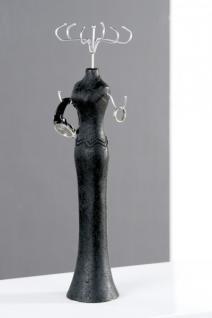 Designer Schmuckbüste Schwarz aus Polyresin, Höhe 45 cm - Schmuckständer, Schmuckbaum