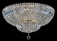 Casa Padrino Barock Kristall Decken Kronleuchter Gold 60, 5 x H 35 cm Antik Stil - Möbel Lüster Leuchter Hängeleuchte Hängelampe