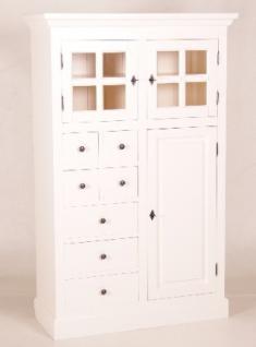 landhaus schrank weiss online bestellen bei yatego. Black Bedroom Furniture Sets. Home Design Ideas