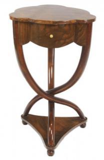 Casa Padrino Biedermeier Schubladen Schrank Mahagoni Braun - Handgefertigt aus Massivholz - Nachtschrank Nachttisch Kommode