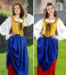 Double-Layer Medieval Skirt blue-red - Medieval Skirt Pirate
