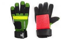Koston Slide Handschuhe Longboard Gloves Grün / Gelb / Schwarz - Skateboard Handschuhe - Slidegloves Slider Glove Set mit Security Reflector System