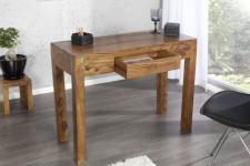 Casa Padrino Designer Schreibtisch Massivholz mit Schublade 100 cm - Sekretär Konsole - Computertisch