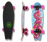 Clans Skateboard / Longboard Carving Cruiser Komplettboard Graffity 8.25 x 27.75 inch - Oldschool Skateboard