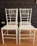 4er Set Designer Acryl Stuhl Weiß - Casa Padrino Ghost Chair Möbel Designer Möbel - Polycarbonat Stühle