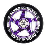 Slamm Profi Scooter Rolle Ninja Star Lila 100mm / 88A (1 Rolle) inkl Abec 7 Kugellager