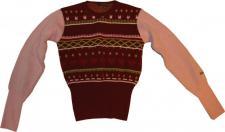Warmer Ragwear Damen Skateboard Winter Pullover Kara Red/Rose/Green - Wolle