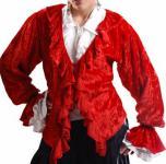 Lady Killigrew Piraten Bluse - Red