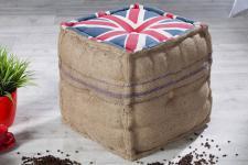 Casa Padrino Union Jack Sitzkissen Rechteckig Sitzhocker 45 x 45 cm - Englische Flagge