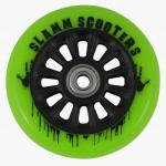 Slamm Profi Scooter Rolle NY Core Green 100mm / 88A (1 Rolle) inkl Koston Abec 7 Kugellager
