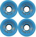 Big Foot Longboard Wheels Stalkers Blau 70mm / 81a Wheel Set Rollen Skateboard Bigfoot