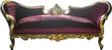 "Baroque Lounge "" Vampire"" Bordeaux/Gold"