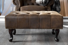 Chesterfield Fußhocker Braun Antik Look aus dem Hause Casa Padrino