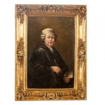 Handgemaltes Barock Öl Gemälde Portraet Rembrandt 3 Gold Prunk Rahmen 130 x 100 x 10 cm - Massives Material - Selbstporträt