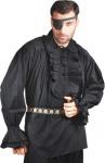 Captain Charles Vane Piraten Shirt - Black (Baumwolle)