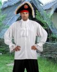 Colonial Shirt White - Pirate Shirt
