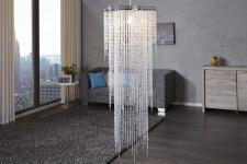 Casa Padrino Hängeleuchte Bling Bling 150 x 55 cm - Leuchte Lampe - Lange Deckenleuchte