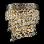 Casa Padrino Barock Wandleuchte Gold 17 x H 19 cm Antik Stil - Wandlampe Wand Beleuchtung