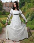 Forest Princess Renaissance Kleid - Natural White