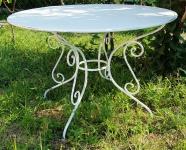 Casa Padrino Gartentisch aus Schmiedeeisen - verschiedene Farben - Ø115 cm x H75 cm - Luxus Gartenmöbel