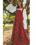 Fleur de Lis Renaissance Kleid - Burgundy