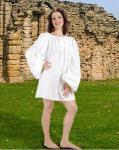 Renaissance Short Piraten / Mittelalter Nachthemd - White