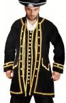 Captain Peter Piraten Mantel - Black