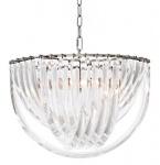 Casa Padrino Art Deco Murano Haengeleuchte 50cm x H33 cm- Möbel Lüster Leuchter Hängeleuchte Hängelampe