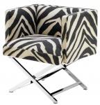 Casa Padrino Luxus Club Sessel im Zebra Design 68 x 57 x H. 74 cm - Art Deco Möbel