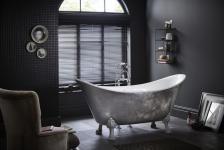Casa Padrino Jugendstil Badewanne freistehend Edelstahleffekt Modell He-Lyd 1730mm - Freistehende Retro Antik Badewanne Barock Stil