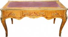 Casa Padrino Luxus Barock Schreibtisch Vogelaugen Ahorn Sekretär B 167 cm - Antik Stil