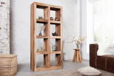 Casa Padrino Massivholz Regal Schrank - Bücherschrank Holzregal Massiv