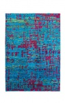 Casa Padrino Designer Seidenteppich Vintage Look Lapis - Handgeknüpft - Möbel Teppich Seide
