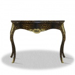 Casa Padrino Barock Konsole Leopard Gold 100 x 40 x H. 85 cm - Luxus Möbel