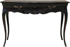 Casa Padrino Barock Schreibtisch Antik Schwarz 120 x 80 x 45 cm - Sekretär Luxus Möbel