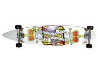 Krown Longboard Komplettboard Skateboard King Pintail Complete Board