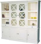 Großer Shabby Chic Landhaus Stil Schrank mit 4 Türen und 2 Schubladen - Buffetschrank - Schrank Esszimmer