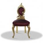 Casa Padrino Barock Salonstuhl Gold Bordeaux Rot 55 x 45 x H. 100 cm - Limited Edition