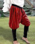 Buccaneer Pants Black/Red - Medieval Pirat